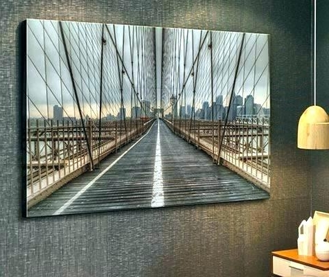 Well Known Brooklyn Bridge Metal Wall Art In Bridge Wall Art Canvas Prints Pink Metal Brooklyn Ikea 6 Gallery B (View 15 of 15)