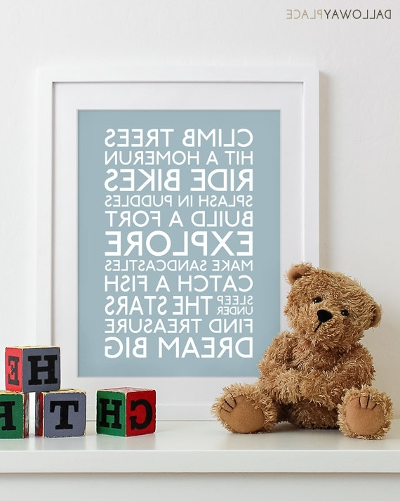 Well Known Canvas Prints For Baby Room 60 Baby Boy Room Wall Art, Childrens Art Throughout Canvas Prints For Baby Nursery (View 13 of 15)