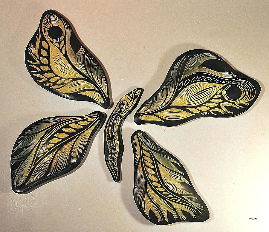 Well Known Ceramic Butterfly Wall Art For Wall Art Ceramic Ceramic Butterfly Wall Art Fresh Studios Handmade (View 15 of 15)