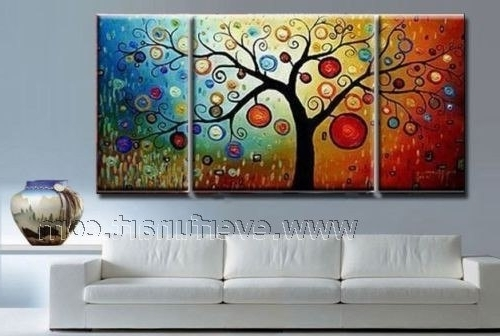 Well-known Cheap Contemporary Wall Art pertaining to Framed ! Free Shipping ! Cheap Modern Wall Art Handpainted Home