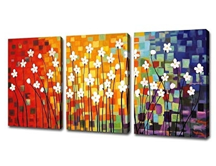 Well Known Cheap Modern Wall Art Inside Amazon: Canvas Art Flowers Abstract Painting Contemporary Wall (View 12 of 15)