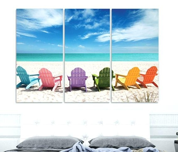 Well Known Coastal Wall Art Canvas Within Canvas Wall Decor Unique Nautical Art Coastal Large – Zackgriffith (View 12 of 15)