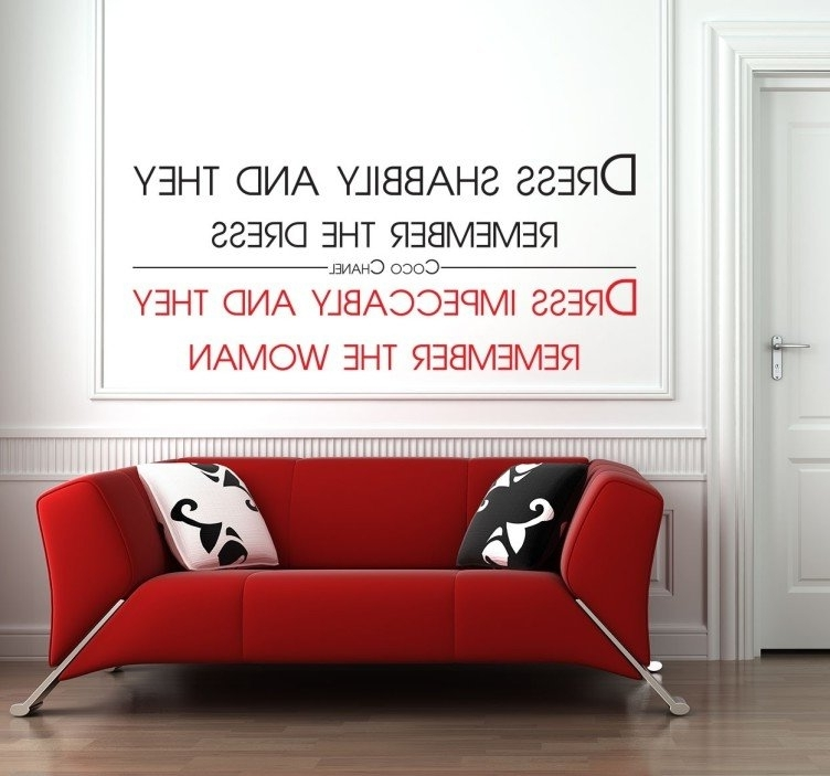 Well Known Coco Chanel Remember The Woman Wall Sticker – Tenstickers For Coco Chanel Wall Stickers (View 15 of 15)