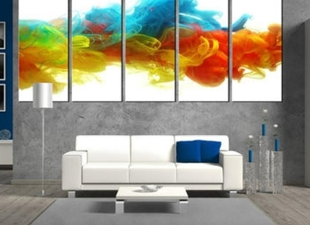 Well Known Colorful Abstract Wall Art Inside 27 Colorful Wall Art Paintings, Mirror Wall Art Ideas (View 13 of 15)
