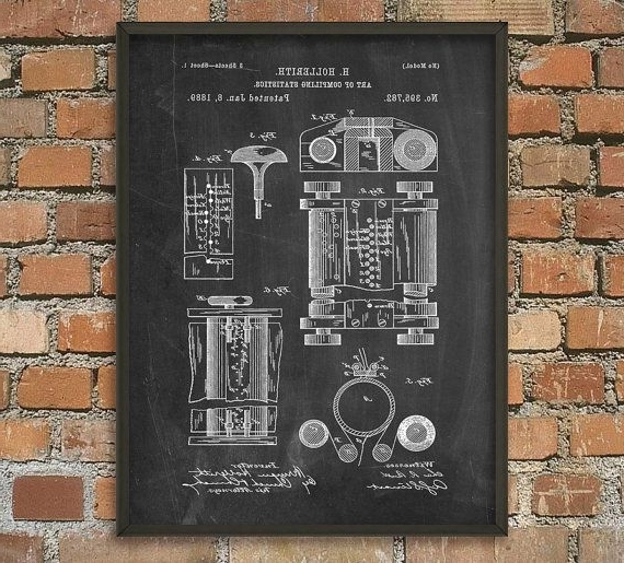 Well Known Computer Wall Art Intended For First Computer Patent Print – Computer Wall Art Poster – Computing (View 14 of 15)