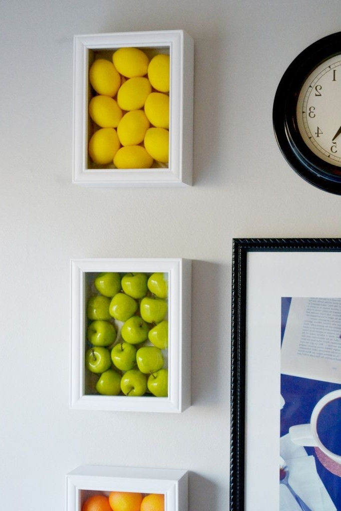 Well Known Cool Kitchen Wall Art With Regard To Colorful Kitchen Wall Art With Fake Fruits (View 8 of 15)