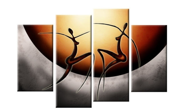 Well Known Dancing African Ladies Abstract Canvas Split Panel Wall Art 40 101Cm Within Split Wall Art (View 15 of 15)