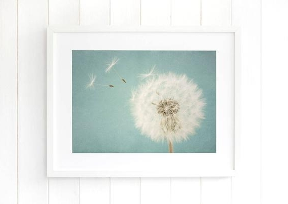 Well Known Dandelion Wall Art Prints Nursery Decor Duck Egg Blue Baby (View 5 of 15)