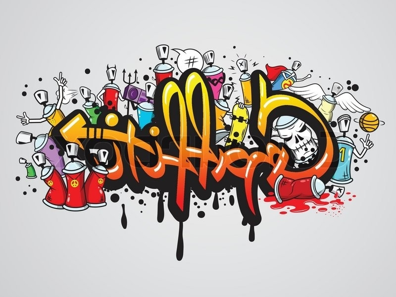 Well Known Decorative Graffiti Art Spray Paint Letters And Characters Abstract Regarding Abstract Graffiti Wall Art (View 10 of 15)