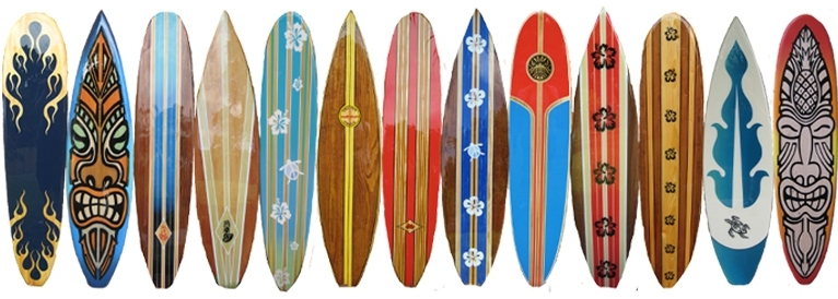 Well Known Decorative Surfboard Wall Art In Wood Decorative Surfboard Wall Art Beach Decor (View 4 of 15)