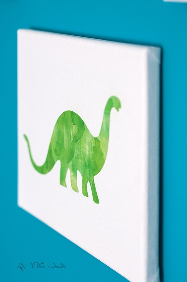 Well Known Dinosaur Canvas Wall Art For Canvas Craft Idea – Turn Any Printable Into Canvas Art – Anika's Diy (View 13 of 15)