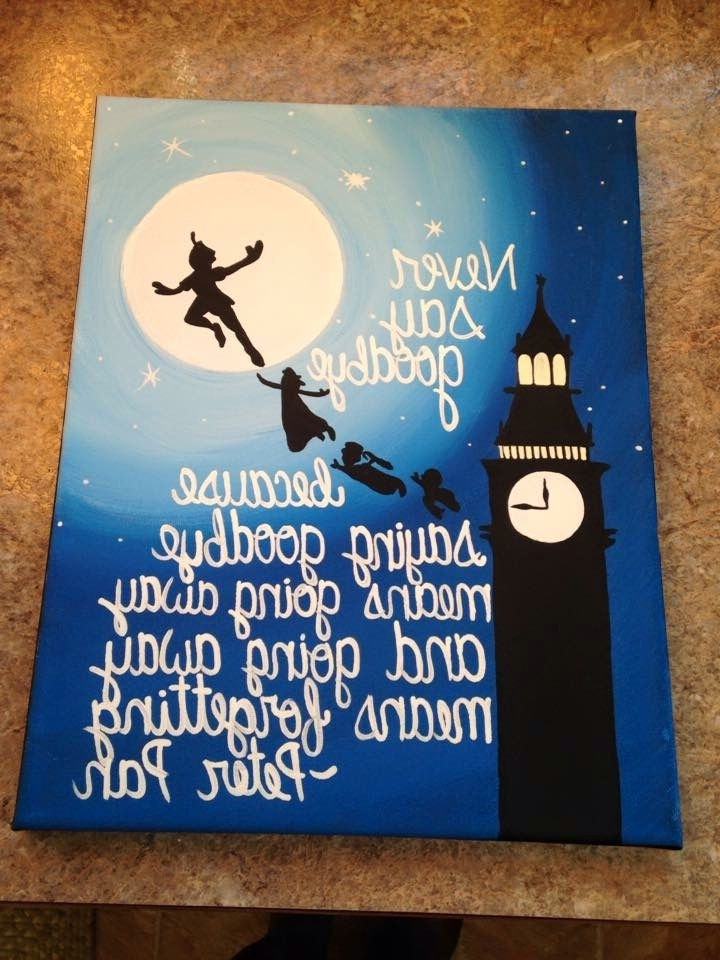 Well Known Disney Wall Canvas … (View 13 of 15)