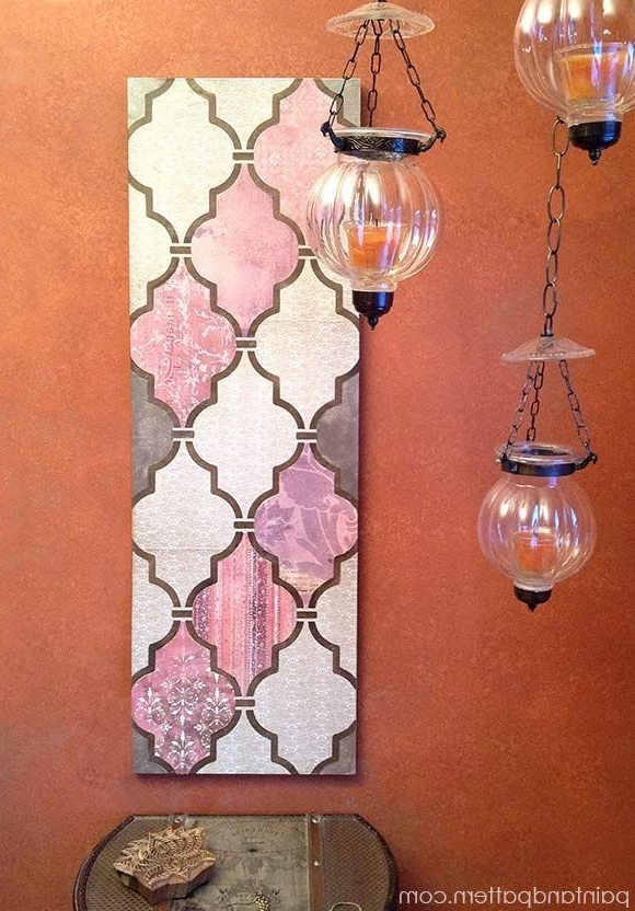Well Known Diy Decoupage Wall Art Using Scrapbook Paper And Stencils! (View 15 of 15)