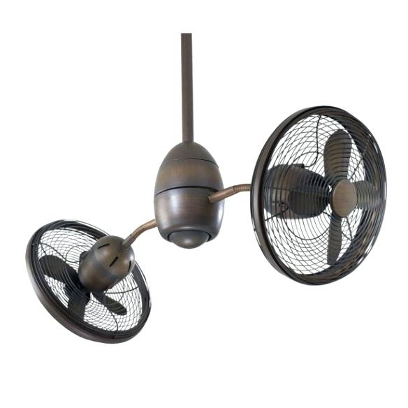 Well Known Double Head Ceiling Fan Two Headed Ceiling Fans Ceiling Fans With Within Outdoor Double Oscillating Ceiling Fans (View 7 of 15)