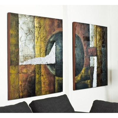 Well known Dwell Abstract Wall Art in Abstract Art Set Of Two - Dwell