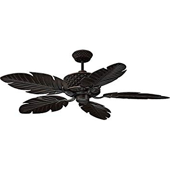 "Well Known Ellington Outdoor Ceiling Fans Inside Ellington Pap52Abz5Rcdi, Pineapple, Ceiling Fan, 52"" Span, Aged (View 9 of 15)"