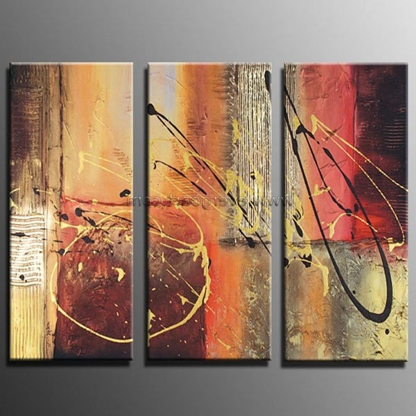 Well Known Entranching Abstract Canvas Art At Framed Modern Huge Oil Painting Within Large Framed Abstract Wall Art (View 14 of 15)