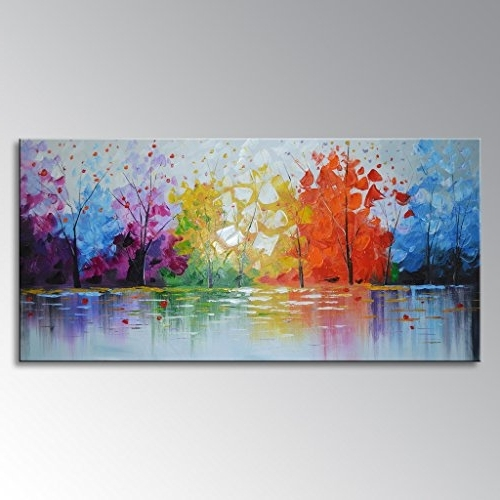 Well Known Everfun Art Hand Painted Palette Knife Oil Painting Modern Abstract Intended For Modern Abstract Wall Art (View 6 of 15)