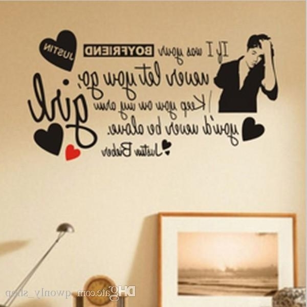 Well Known Fashion Girl Wall Sticker Home Decoration Justin Bieber Vinyl Wall In Justin Bieber Wall Art (View 7 of 15)