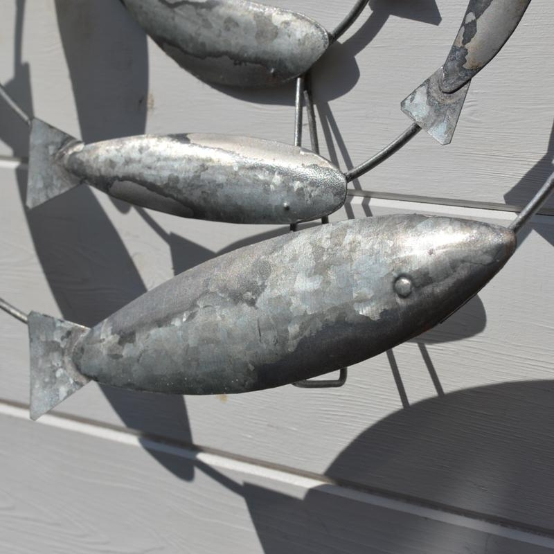 Well Known Fish Shoal Metal Wall Art Within Fish Swirl Wall Art – Metal – Coastalhome.co (View 13 of 15)