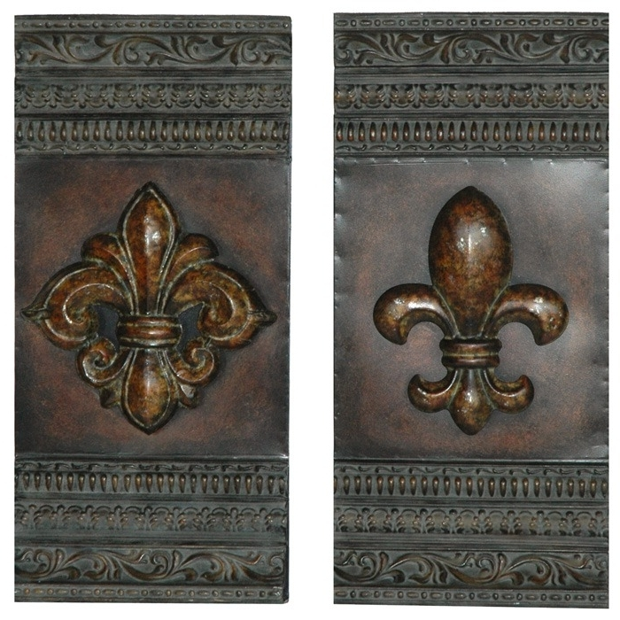 Well Known Fleur De Lis 2 Panel Metal Wall Art Dcg Stores Cvtwa1080 Jpg Bw 500 In Fleur De Lis Metal Wall Art (View 14 of 15)