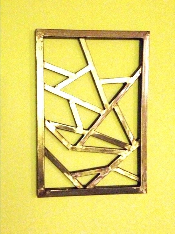 Well Known Geometric Modern Metal Abstract Wall Art In Geometric Metal Wall Art 4 Designs Modern Abstract – Bomer (View 15 of 15)