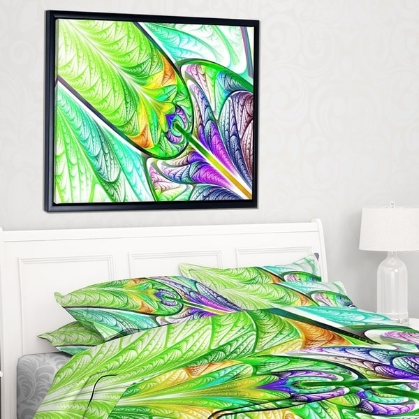 Well Known Glass Abstract Wall Art Within Designart 'green Blue Fractal Stained Glass' Abstract Wall Art (View 15 of 15)