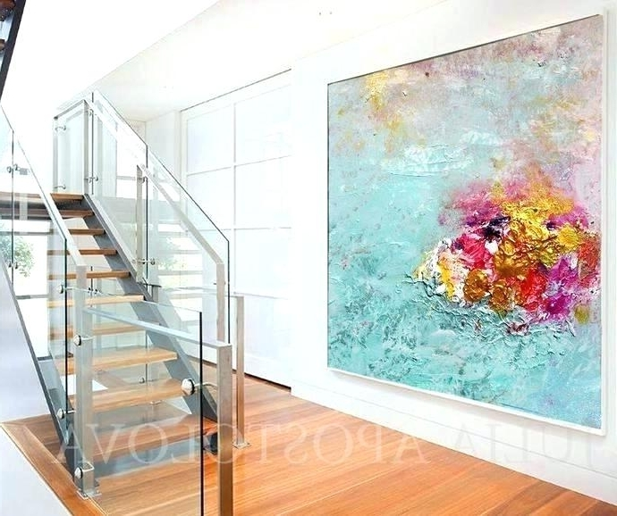 Well Known Glass Wall Artworks Within Glass Wall Art Wall Blue Gray Glass Wall Art – Vaughanbrosart (View 15 of 15)