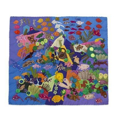 Well Known Handcrafted Peruvian Folk Art Wall Hanging – Underwater World (View 4 of 15)