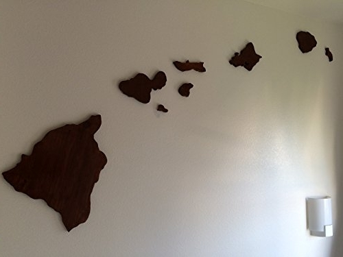 Well Known Hawaiian Islands Wall Art With Regard To Wooden Hawaiian Island Chain Wall Art – Wall's Furniture & Decor (View 4 of 15)
