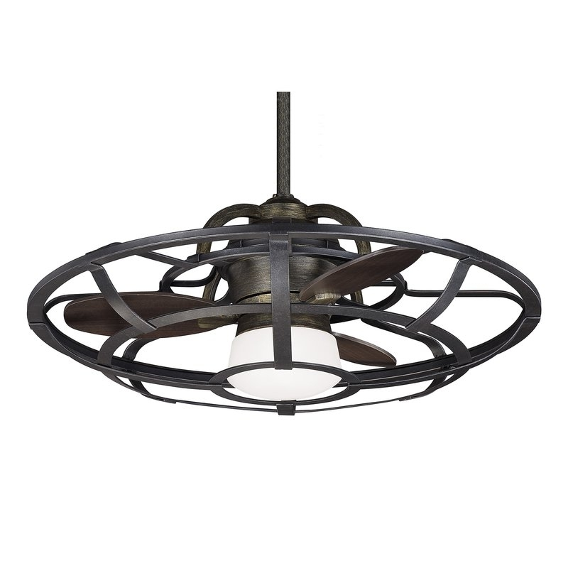 """Well Known High End Outdoor Ceiling Fans With 26"""" Wilburton 3 Blade Outdoor Ceiling Fan With Remote & Reviews (View 14 of 15)"""