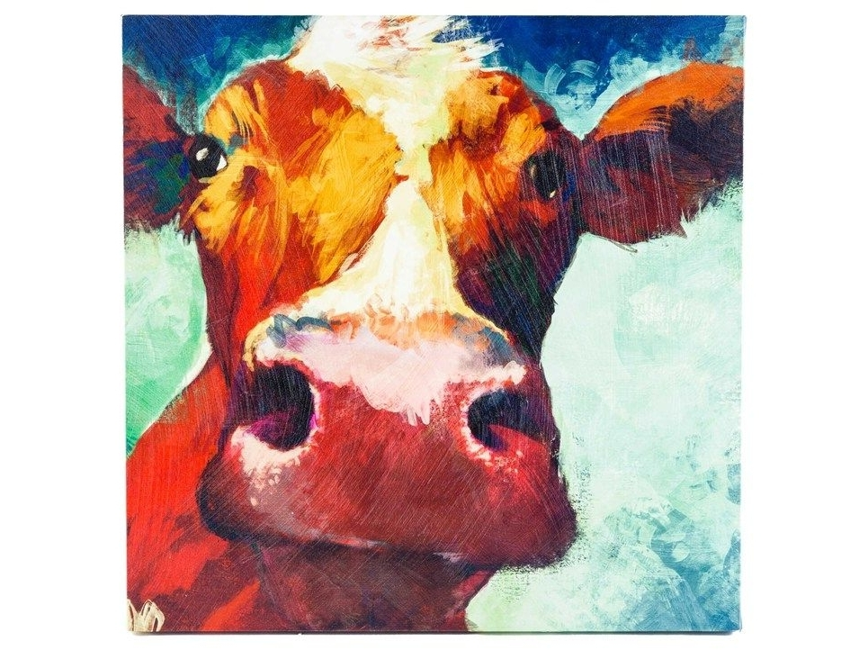 Well Known Hobby Lobby Abstract Wall Art Regarding Big Cow Canvas Wall Art. Hobby Lobby $ (View 8 of 15)