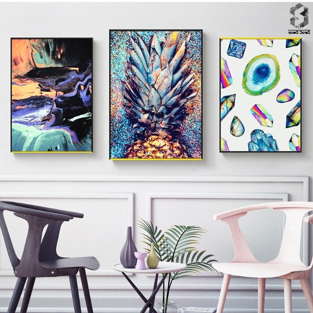 Well Known Illusion Wall Art Print And Poster, Nordic Canvas Paintings For Inside Illusion Wall Art (View 12 of 15)