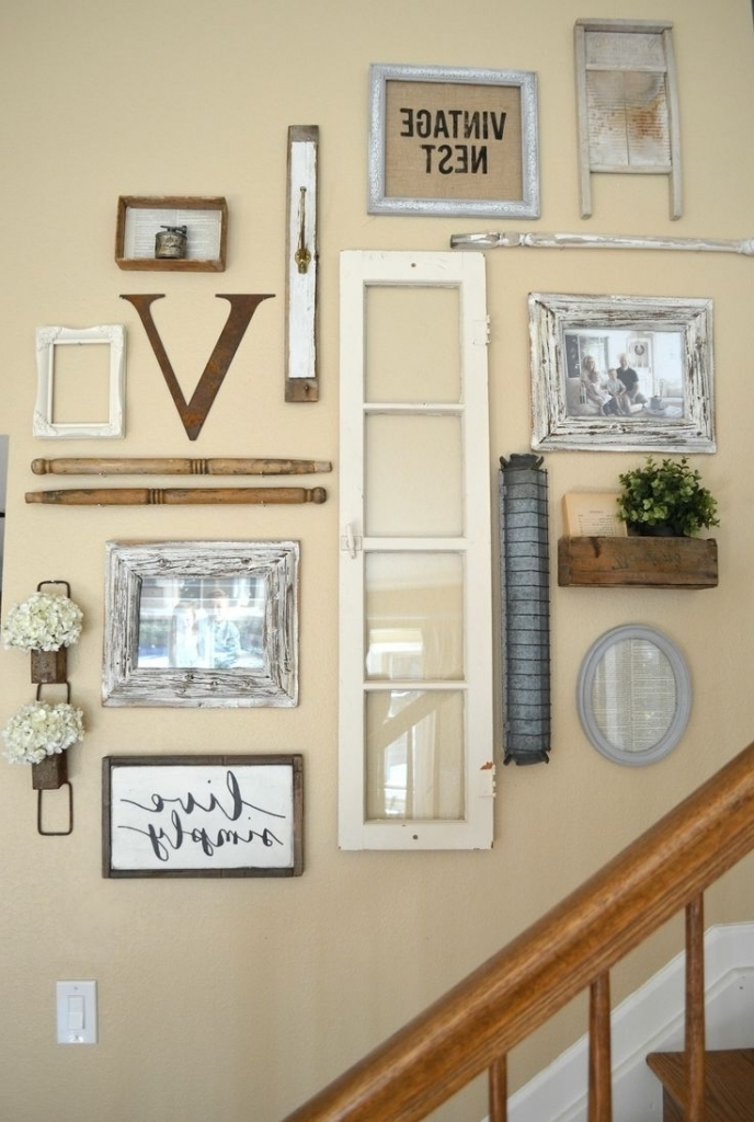 Well Known Incredible Ideas For Staircase Walls 1000 Ideas About Staircase With Vintage Style Wall Art (View 15 of 15)