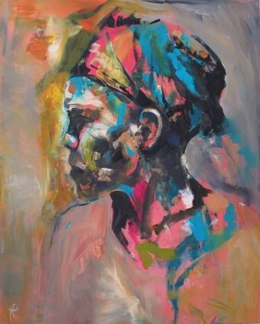 Well Known Kirby Abstract Wall Art Regarding Saatchi Art: Zambian Woman Paintingemily Kirby (View 12 of 15)