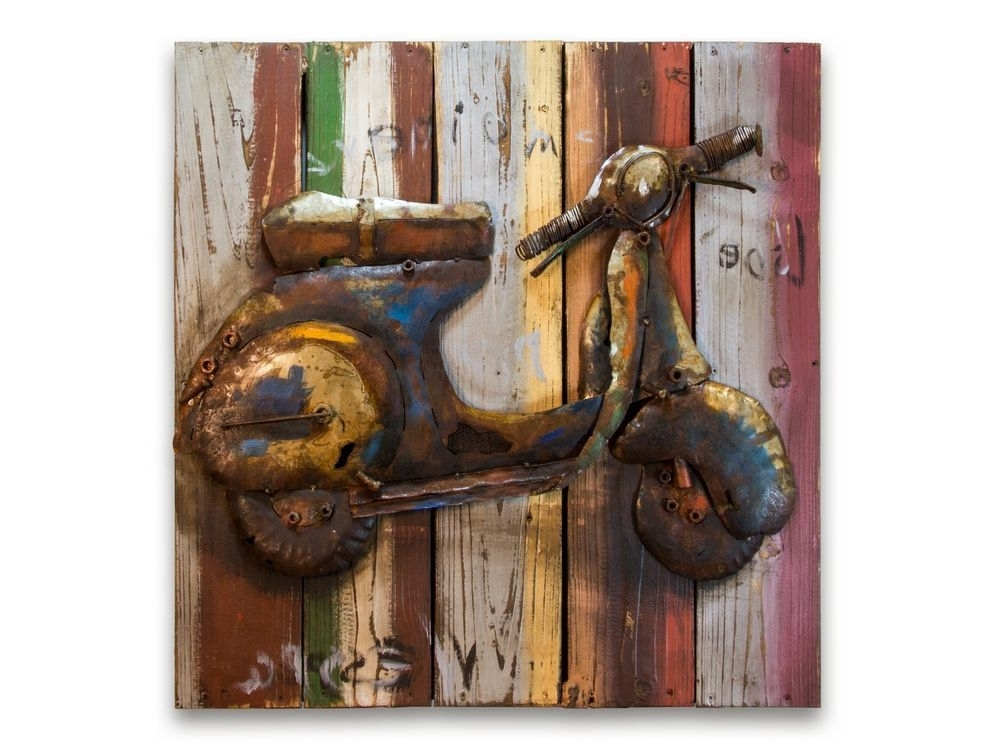 Well Known Lambretta Scooter Metal Picture (View 9 of 15)