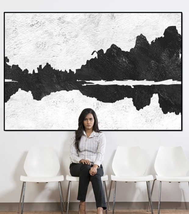 Well-known Landscape Abstract Wall Art, Extra Large Wall Art, Large Abstract inside Large White Wall Art