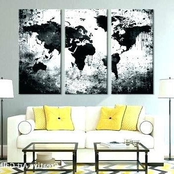 Well Known Large Triptych Wall Art Intended For Large Triptych Wall Art Large Black And White Wall Art Extra Large (View 13 of 15)