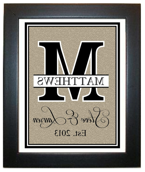 Well Known Last Name Framed Wall Art For Marvellous Design Last Name Wall Art Designing Inspiration Ideas (View 13 of 15)