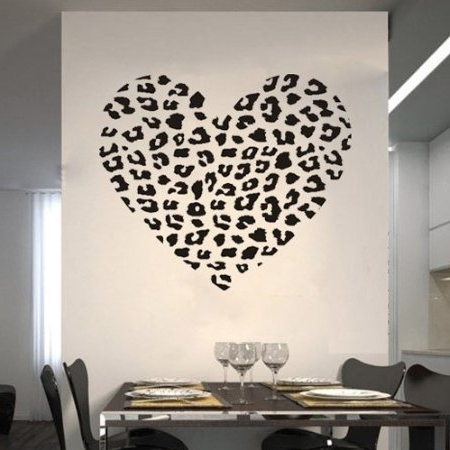 Well Known Leopard Print Wall Art With Regard To Leopard Print Wall Art Buy Leopard Cheetah Heart Animal Print Wall (View 14 of 15)