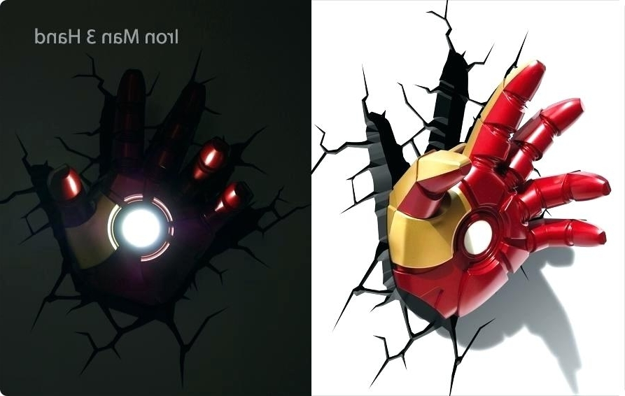 Well Known Light: Iron Man Wall Art Coming Soon Hand Nightlight Avengers 3D Pertaining To Iron Man 3D Wall Art (View 3 of 15)