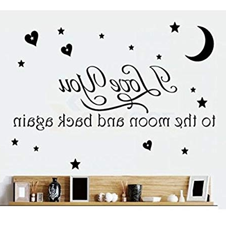 Well Known Love Quotes Wall Decor Wall Art I Love You To The Moon And Back Throughout Love Coco 3D Vinyl Wall Art (View 8 of 15)