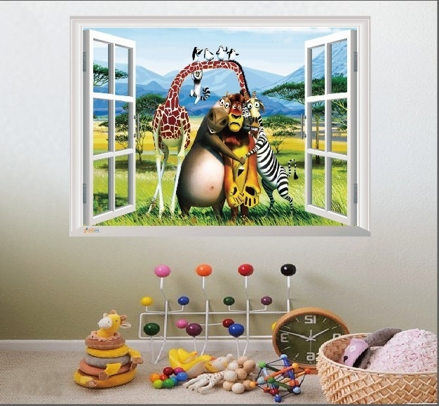 Well Known Madagascar Animal World Nursery Wall Art Pertaining To Baby Nursery 3D Wall Art (View 14 of 15)