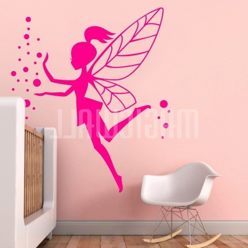 Well Known Magic Fairy Girl Wall Decal Superb Girl Wall Decals – Home Design With Regard To Wall Art For Girls (View 8 of 15)
