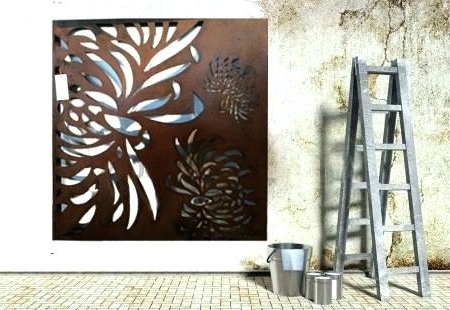 Well Known Metal Large Outdoor Wall Art For Outdoor Metal Art For Walls Metallic Wall Art Wall Metal Art Wall (View 14 of 15)