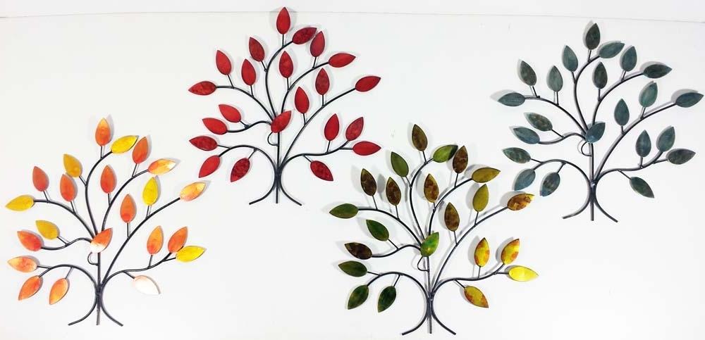 Well Known Metal Wall Art – 4 Seasons Tree Branch Set For Oak Tree Metal Wall Art (View 14 of 15)