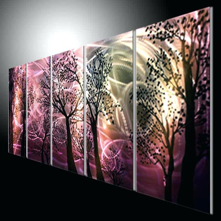 Well Known Metal Wall Art Abstract Abstract Modern Metal Wall Art Painting Inside Abstract Metal Wall Art Painting (View 3 of 15)