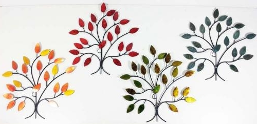 Well Known Metal Wall Art Trees And Branches Intended For Metal Wall Art – 4 Seasons Tree Branch Set (View 7 of 15)