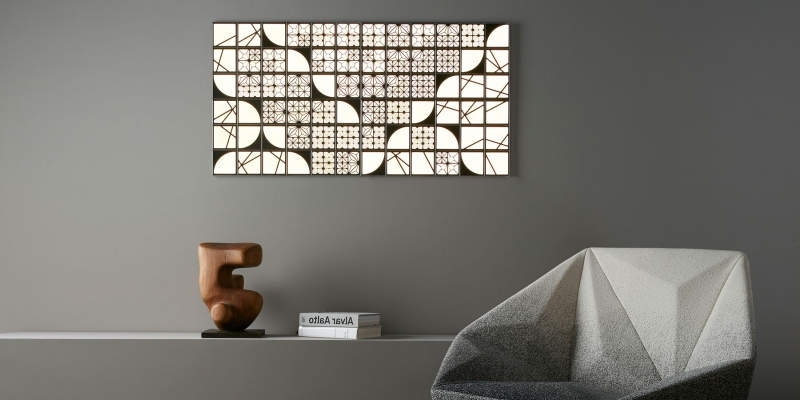 Well Known Modular Wall Art Regarding Kumiko Modular Oled Wall Tiles Function As Lighted Wall Art (View 11 of 15)