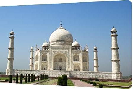 "Well Known Mool ""taj Mahal Blue Sky"" Canvas Wall Art Print, Multi Colour, Large Throughout Taj Mahal Wall Art (View 9 of 15)"